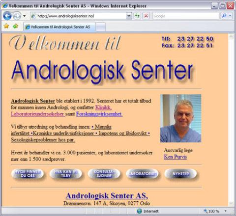 Intervju med Dr Ken Purvis, Andrologisk Senter